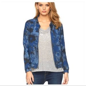 Juicy Couture | Floral Chambray Bomber